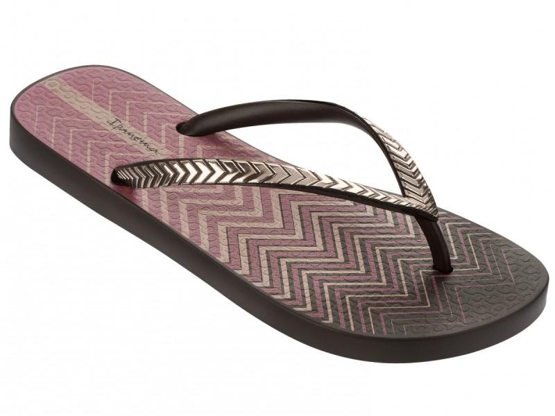 Ipanema Schuhe braun und Pink mit Riemchen in Metallic Optik