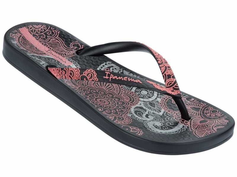 Ipanema Anatomic Sandalen schwarz rosa neu 2015 Zehentrenner