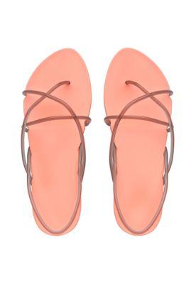 Ipanema Philippe Starck Schuhe Sandalen lachsfarben mit grauen dünnen Riemchen